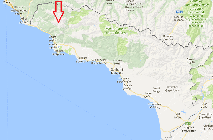 Abházia-térkép